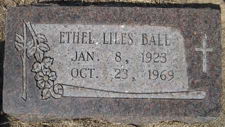 BALL, ETHEL LILES - Lonoke County, Arkansas | ETHEL LILES BALL - Arkansas Gravestone Photos