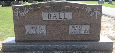 BALL, BAXLEY E - Lonoke County, Arkansas | BAXLEY E BALL - Arkansas Gravestone Photos