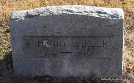 BARGER, W HENRY - Lonoke County, Arkansas | W HENRY BARGER - Arkansas Gravestone Photos