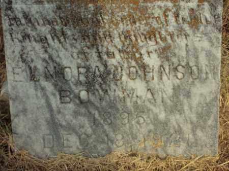 JOHNSON BOWMAN, ELNORA - Lonoke County, Arkansas | ELNORA JOHNSON BOWMAN - Arkansas Gravestone Photos