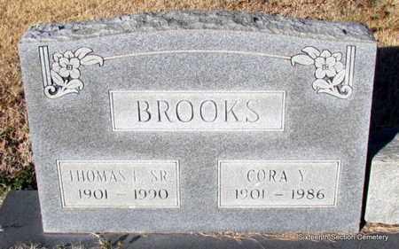 YANCEY BROOKS, CORA - Lonoke County, Arkansas | CORA YANCEY BROOKS - Arkansas Gravestone Photos