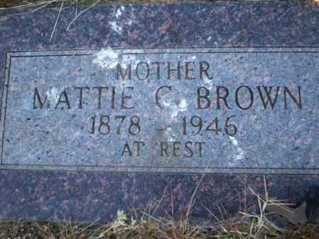 BROWN, MATTIE C - Lonoke County, Arkansas | MATTIE C BROWN - Arkansas Gravestone Photos