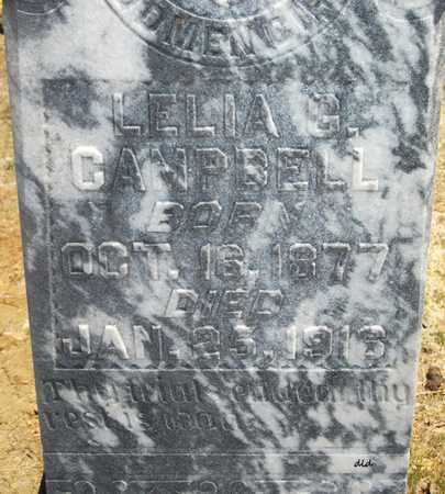 CAMPBELL, LELIA G  (CLOSE UP) - Lonoke County, Arkansas | LELIA G  (CLOSE UP) CAMPBELL - Arkansas Gravestone Photos