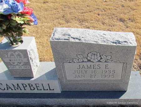 CAMPBELL, JAMES E (CLOSE UP) - Lonoke County, Arkansas | JAMES E (CLOSE UP) CAMPBELL - Arkansas Gravestone Photos