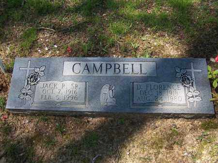 CAMPBELL, D FLORENCE - Lonoke County, Arkansas | D FLORENCE CAMPBELL - Arkansas Gravestone Photos