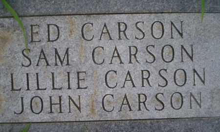 CARSON, ED - Lonoke County, Arkansas | ED CARSON - Arkansas Gravestone Photos
