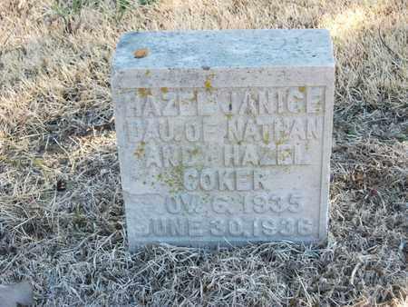 COKER, HAZEL JANICE - Lonoke County, Arkansas | HAZEL JANICE COKER - Arkansas Gravestone Photos