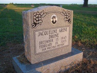 DRONE, JACQUELINE ARENE - Lonoke County, Arkansas | JACQUELINE ARENE DRONE - Arkansas Gravestone Photos