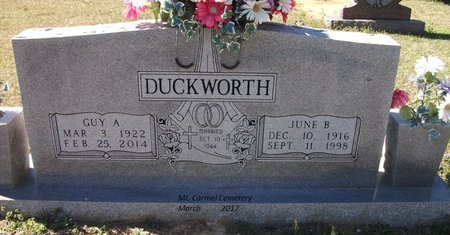 DUCKWORTH, JUNE - Lonoke County, Arkansas | JUNE DUCKWORTH - Arkansas Gravestone Photos