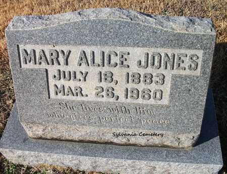 JONES, MARY ALICE - Lonoke County, Arkansas | MARY ALICE JONES - Arkansas Gravestone Photos
