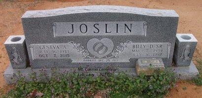 JOSLIN, GENEVA A - Lonoke County, Arkansas | GENEVA A JOSLIN - Arkansas Gravestone Photos