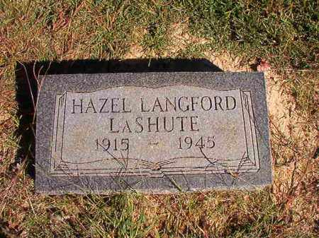 LASHUTE, HAZEL - Lonoke County, Arkansas | HAZEL LASHUTE - Arkansas Gravestone Photos
