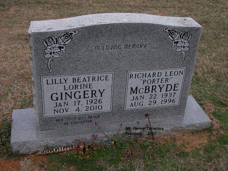 GINGERY, LILLY BEATRICE LORINE - Lonoke County, Arkansas | LILLY BEATRICE LORINE GINGERY - Arkansas Gravestone Photos