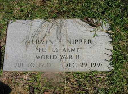 NIPPER (VETERAN WWII), MERVIN F - Lonoke County, Arkansas | MERVIN F NIPPER (VETERAN WWII) - Arkansas Gravestone Photos