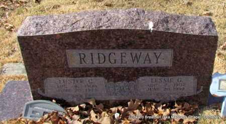 RIDGEWAY, LESSIE G - Lonoke County, Arkansas | LESSIE G RIDGEWAY - Arkansas Gravestone Photos