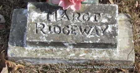 RIDGEWAY, MARGT - Lonoke County, Arkansas | MARGT RIDGEWAY - Arkansas Gravestone Photos