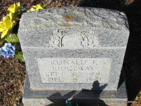 RIDGEWAY, RONALD P - Lonoke County, Arkansas | RONALD P RIDGEWAY - Arkansas Gravestone Photos