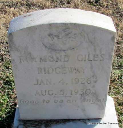 RIDGEWAY, RAYMOND GILES - Lonoke County, Arkansas | RAYMOND GILES RIDGEWAY - Arkansas Gravestone Photos