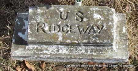 RIDGEWAY, U S - Lonoke County, Arkansas | U S RIDGEWAY - Arkansas Gravestone Photos