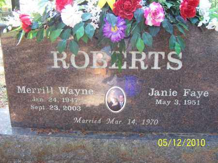 ROBERTS, MERRILL WAYNE - Lonoke County, Arkansas | MERRILL WAYNE ROBERTS - Arkansas Gravestone Photos