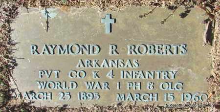 ROBERTS (VETERAN WWI), RAYMOND R - Lonoke County, Arkansas | RAYMOND R ROBERTS (VETERAN WWI) - Arkansas Gravestone Photos