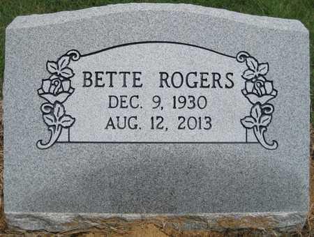ROGERS, BETTE - Lonoke County, Arkansas   BETTE ROGERS - Arkansas Gravestone Photos