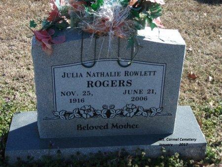 ROGERS, JULIA NATHALIE - Lonoke County, Arkansas | JULIA NATHALIE ROGERS - Arkansas Gravestone Photos