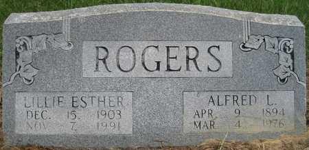 ROGERS, ALFRED L - Lonoke County, Arkansas   ALFRED L ROGERS - Arkansas Gravestone Photos