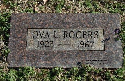 ROGERS, OVA LEON - Lonoke County, Arkansas   OVA LEON ROGERS - Arkansas Gravestone Photos