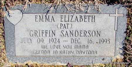 SANDERSON, EMMA ELIZABETH (PAT) - Lonoke County, Arkansas | EMMA ELIZABETH (PAT) SANDERSON - Arkansas Gravestone Photos