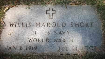 SHORT (VETERAN WWII), WILLIS HAROLD - Lonoke County, Arkansas | WILLIS HAROLD SHORT (VETERAN WWII) - Arkansas Gravestone Photos