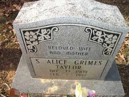 TAYLOR, S  ALICE - Lonoke County, Arkansas | S  ALICE TAYLOR - Arkansas Gravestone Photos