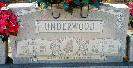 UNDERWOOD, VIRGIL R - Lonoke County, Arkansas | VIRGIL R UNDERWOOD - Arkansas Gravestone Photos