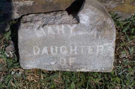 UNKNOWN, MARY A - Lonoke County, Arkansas | MARY A UNKNOWN - Arkansas Gravestone Photos