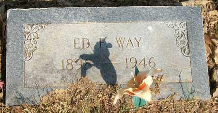 WAY, ED F - Lonoke County, Arkansas   ED F WAY - Arkansas Gravestone Photos