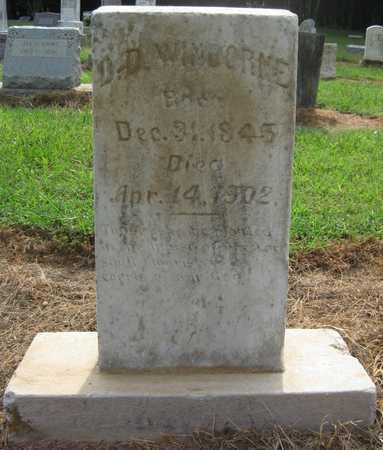 WINBORNE, D D - Lonoke County, Arkansas   D D WINBORNE - Arkansas Gravestone Photos