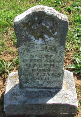 BAKER, MARY JANE - Madison County, Arkansas | MARY JANE BAKER - Arkansas Gravestone Photos
