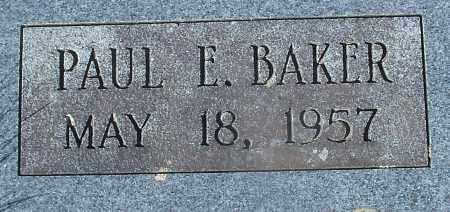 BAKER, PAUL E - Madison County, Arkansas | PAUL E BAKER - Arkansas Gravestone Photos