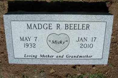 "BEELER, MADGE ""MICKY"" - Madison County, Arkansas | MADGE ""MICKY"" BEELER - Arkansas Gravestone Photos"