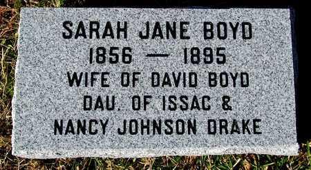 BOYD, SARAH JANE - Madison County, Arkansas | SARAH JANE BOYD - Arkansas Gravestone Photos