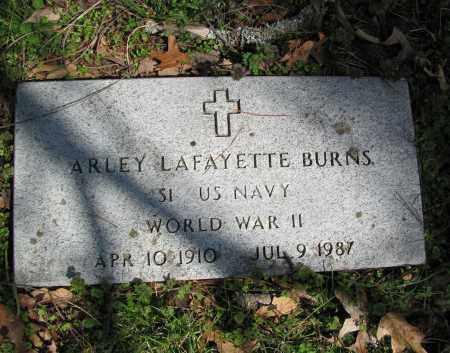 BURNS (VETERAN WWII), ARLEY LAFAYETTE - Madison County, Arkansas | ARLEY LAFAYETTE BURNS (VETERAN WWII) - Arkansas Gravestone Photos