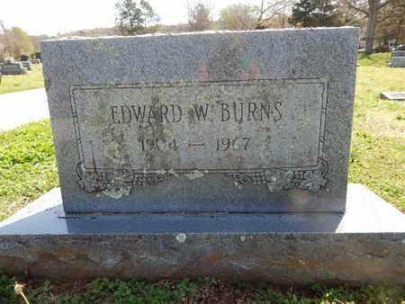 BURNS, EDWARD W - Madison County, Arkansas | EDWARD W BURNS - Arkansas Gravestone Photos