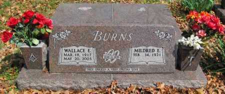 BURNS, WALLACE E. - Madison County, Arkansas | WALLACE E. BURNS - Arkansas Gravestone Photos