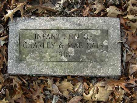 CAIN, INFANT SON - Madison County, Arkansas   INFANT SON CAIN - Arkansas Gravestone Photos