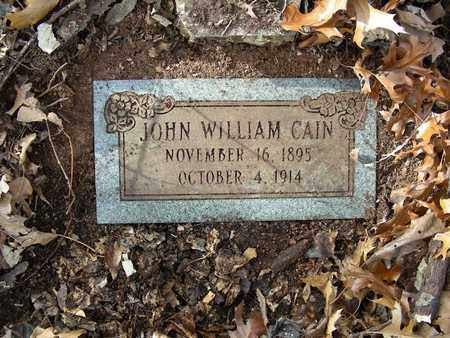 CAIN, JOHN WILLIAM - Madison County, Arkansas | JOHN WILLIAM CAIN - Arkansas Gravestone Photos