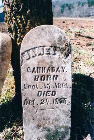 CANNADAY, JAMES B. - Madison County, Arkansas | JAMES B. CANNADAY - Arkansas Gravestone Photos
