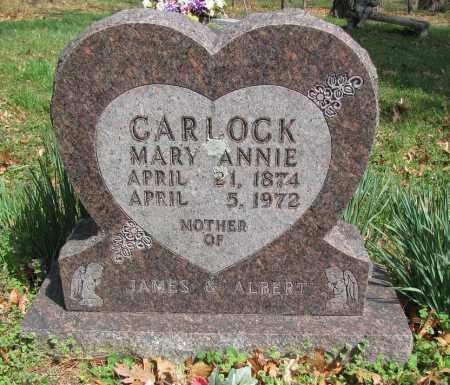 CARLOCK, MARY ANNIE - Madison County, Arkansas   MARY ANNIE CARLOCK - Arkansas Gravestone Photos