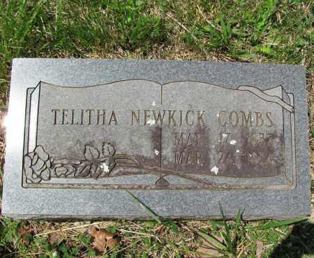 NEWKIRK COMBS, TELITHA - Madison County, Arkansas   TELITHA NEWKIRK COMBS - Arkansas Gravestone Photos