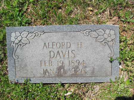 DAVIS, ALFORD H. - Madison County, Arkansas   ALFORD H. DAVIS - Arkansas Gravestone Photos