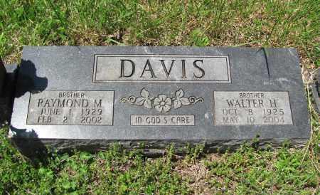 DAVIS, WALTER H. - Madison County, Arkansas | WALTER H. DAVIS - Arkansas Gravestone Photos